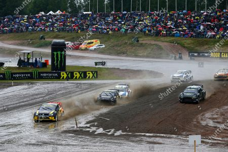 2014 FIA World Rallycross Championship Round 04 Kouvola, Finland 29th June 2014 Tanner Foust, VW Polo - Marklund Motorsport  Worldwide Copyright: McKlein / IMG