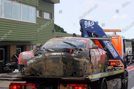 2014 British GT Championship. Snetterton, Norfolk. 21st - 22nd June 2014. Paul Bailey / Andy Schulz HorsePower Racing Aston Martin Vantage GT3. World Copyright: Ebrey / LAT Photographic.