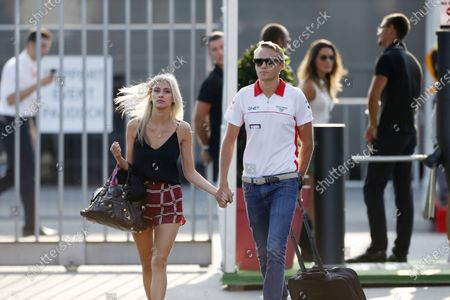 Autodromo Nazionale di Monza, Monza, Italy. 7th September 2013. Max Chilton, Marussia F1, with girlfriend Chloe Roberts. World Copyright: Charles Coates/LAT Photographic.