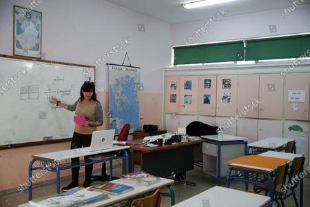 Editorial photo of Virus Outbreak Online Schooling, Athens, Greece - 20 Nov 2020