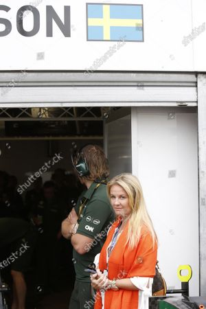Monte Carlo, Monaco. Sunday 25 May 2014. Nina Peterson, the daughter of deceased world champion Ronnie Peterson. World Copyright: Charles Coates/LAT Photographic.