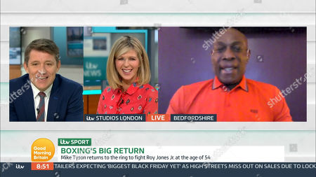 Stock Picture of Ben Shephard, Kate Garraway and Frank Bruno