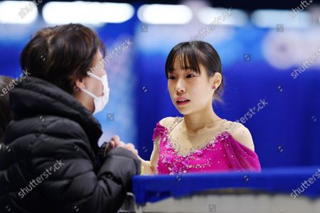 Mai Mihara (JPN) - Figure Skating : ISU Grand Prix of Figure Skating 2020/21 NHK Trophy Women's at Towayakuhin RACTAB Dome, Osaka, Japan.