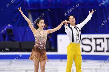 Kana Muramoto & Daisuke Takahashi (JPN) - Figure Skating : ISU Grand Prix of Figure Skating 2020/21 NHK Trophy Ice Dance Rhythm Dance at Towayakuhin RACTAB Dome, Osaka, Japan.