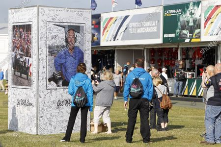 Silverstone, Northamptonshire, England 30th June 2013 Messages from the fans for legendary commentator Murray Walker World Copyright: Jed Leicester/