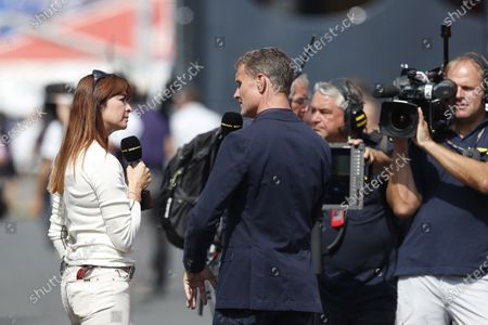 Nurburgring, Germany 6th July 2013 David Coulthard, BBC Sport F1, with Suzy Perry, BBC Sport F1 World Copyright: Charles Coates/