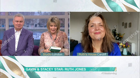 Stock Photo of Eamonn Holmes, Ruth Langsford and Ruth Jones