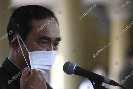 Thailand Prime Minister Prayuth Chan-ocha attends a signing ceremony agreement for Thailand to purchase of AstraZeneca's potential COVID-19 vaccine at Government House in Bangkok, Thailand, 27 November 2020.