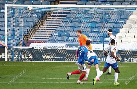 Tom Naylor of Portsmouth scores his sides second goal.