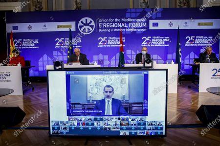 Editorial photo of Union for the Mediterranean Forum, Barcelona, Spain - 27 Nov 2020