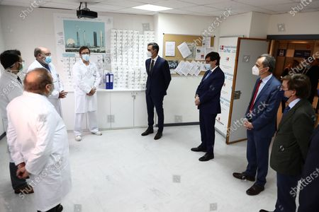 Editorial photo of Spanish PM visits hospital's research unit in Madrid amid Covid crisis, Spain - 27 Nov 2020