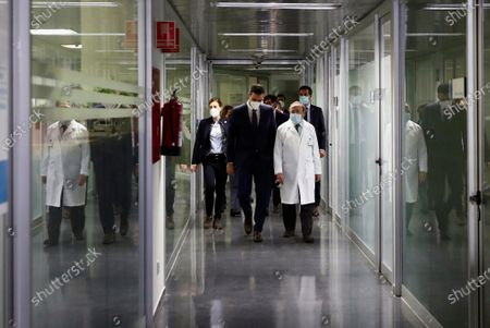 Editorial picture of Spanish PM visits hospital's research unit in Madrid amid Covid crisis, Spain - 27 Nov 2020