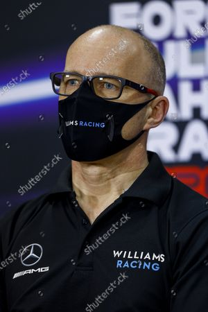 Simon Roberts, Acting Team Principal, Williams Racing, in the Press Conference during the 2020 Formula One Bahrain Grand Prix