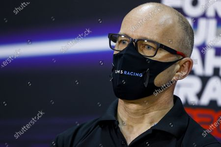 Stock Image of Simon Roberts, Acting Team Principal, Williams Racing, in the Press Conference during the 2020 Formula One Bahrain Grand Prix