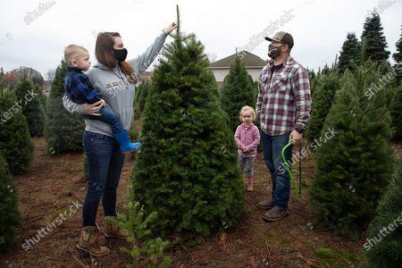 Editorial image of Virus Outbreak Christmas Trees, Portland, United States - 20 Nov 2020