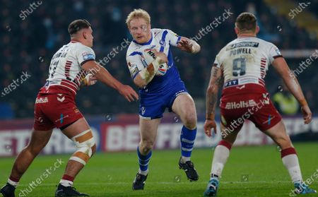 James Graham of St Helens plays his last match for Saints before retiring. Pix shows James Graham of St Helens with Oliver Partington of Wigan Warriors and Sam Powell of Wigan Warriors