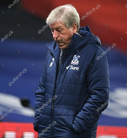 Crystal Palace's manager Roy Hodgson reacts following the English Premier League soccer match between Crystal Palace and Newcastle United at Selhurst Park Stadium, London