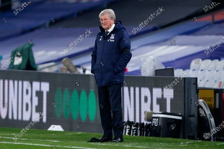 Stock Picture of Crystal Palace's manager Roy Hodgson watches play during the English Premier League soccer match between Crystal Palace and Newcastle United at Selhurst Park Stadium, London