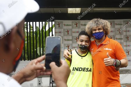 Editorial picture of Former Colombian soccer player Carlos Valderrama  inauguration of a sports arena, Sabaneta, Colombia - 27 Nov 2020