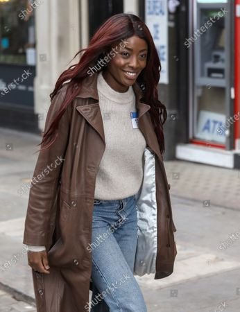 Editorial image of AJ Odudu out and about, London, UK - 27 Nov 2020
