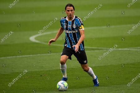 Pedro Geromel of Gremio; Arena de Gremio, Porto Alegre, Brazil; Brazilian Serie A, Gremio versus Goias.