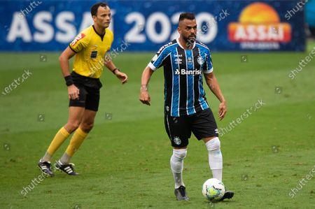Maicon of Gremio; Arena de Gremio, Porto Alegre, Brazil; Brazilian Serie A, Gremio versus Goias.