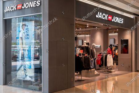 Danish fashion clothing brand Jack Jones store seen in Hong Kong.