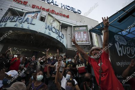 Stock Picture of Thai anti-government protesters shout slogans during a street protest calling for political and monarchical reform in Bangkok, Thailand, 28 November 2020. Thailand has been facing political turmoil amid months-long street protests calling for the political and monarchical reform and the resignation of the prime minister Prayuth Chan-ocha.