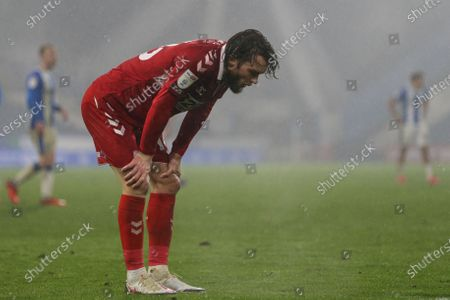 Jonathan Howson #16 of Middlesbrough reacts during the game