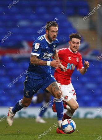 Luke Chambers of Ipswich Town and Paul Smyth of Charlton Athletic - Ipswich Town v Charlton Athletic, Sky Bet League One, Portman Road, Ipswich, UK - 28th November 2020Editorial Use Only - DataCo restrictions apply