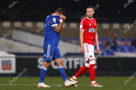 Luke Chambers of Ipswich Town is seen at full time - Ipswich Town v Charlton Athletic, Sky Bet League One, Portman Road, Ipswich, UK - 28th November 2020Editorial Use Only - DataCo restrictions apply