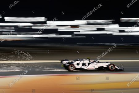 Pierre Gasly, AlphaTauri AT01, kicks up some sparks during the 2020 Formula One Bahrain Grand Prix