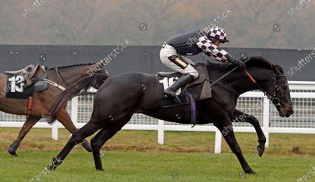 Stock Image of CAP DU NORD (Jack Tudor) wins The Sir Peter O'Sullevan Memorial Handicap Chase Newbury