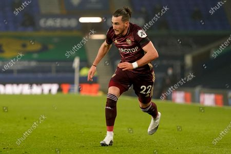 Leeds United midfielder Jack Harrison (22) during the Premier League match between Everton and Leeds United at Goodison Park, Liverpool