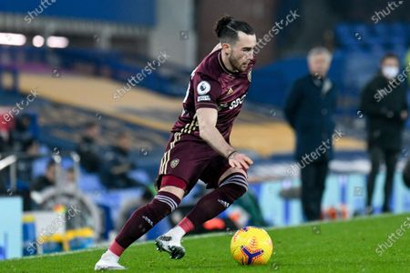 Leeds United midfielder Jack Harrison (22) in action during the Premier League match between Everton and Leeds United at Goodison Park, Liverpool