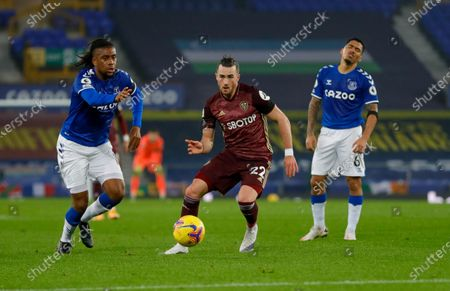 Stock Photo of Leeds United midfielder Jack Harrison (22), on loan from Manchester City,  during the Premier League match between Everton and Leeds United at Goodison Park, Liverpool