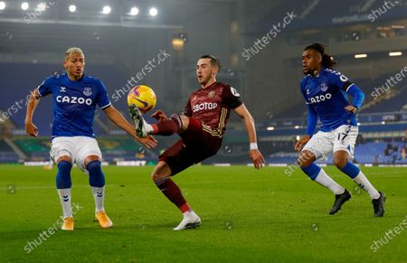 Stock Picture of Leeds United midfielder Jack Harrison (22), on loan from Manchester City,  during the Premier League match between Everton and Leeds United at Goodison Park, Liverpool