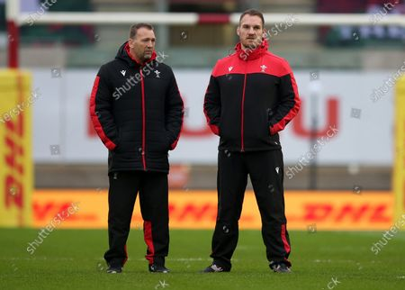 Wales Coaches Jonathan Humphreys and Gethin Jenkins.
