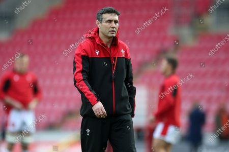 Stephen Jones during the warm up.