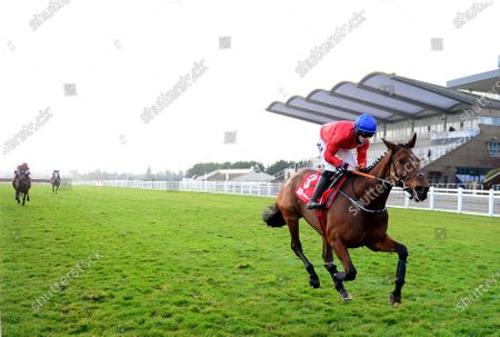 FAIRYHOUSE 29-November-2020. The Baroneracing.com Drinmore Novice Chase (Grade 1) ENVOI ALLEN and Jack Kennedy are easy winners for owner Cheveley Park Stud and trainer Gordon Elliott. Healy Racing