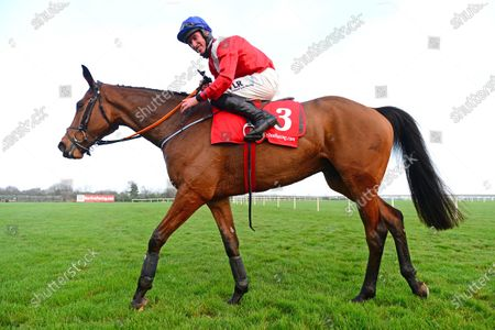 FAIRYHOUSE 29-November-2020. The Baroneracing.com Drinmore Novice Chase (Grade 1) ENVOI ALLEN and Jack Kennedy after they were easy winners for owner Cheveley Park Stud and trainer Gordon Elliott. Healy Racing