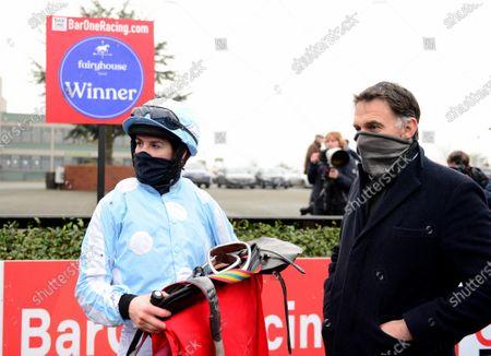 FAIRYHOUSE 29-November-2020. The Baroneracing.com Hatton's Grace Hurdle (Grade 1) HONEYSUCKLE and Rachael Blackmore won for trainer Henry de Bromhead. Healy Racing