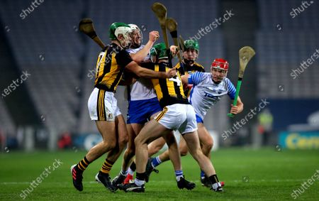 Kilkenny vs Waterford. Kilkenny's Paddy Deegan and Tommy Walsh with Jack Fagan of Waterford