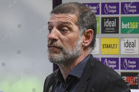 Portrait of West Bromwich Albion manager Slaven Bilic  with sponsor board in background during the Premier League match between West Bromwich Albion and Sheffield United at The Hawthorns, West Bromwich