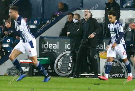 West Bromwich Albion's manager Slaven Bilic reacts during the English Premier League soccer match between West Bromwich Albion and Sheffield United at The Hawthorns in West Bromwich, England
