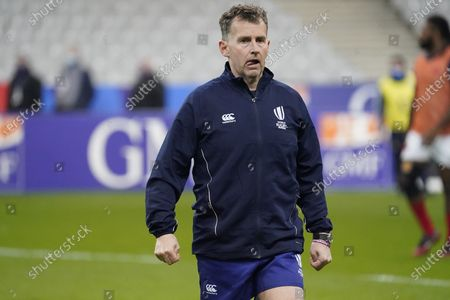 Referee Nigel Owens before his 100th test match.