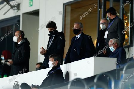 Florentino Perez, President of Real Madrid, is seen during the spanish league, La Liga Santander, football match played between Real Madrid and Deportivo Alaves at Alfredo Di Stefano stadium on november 28, 2020, in Valdebebas, Madrid, Spain