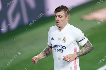 Toni Kroos of Real Madrid in action during the spanish league, La Liga Santander, football match played between Real Madrid and Deportivo Alaves at Alfredo Di Stefano stadium on november 28, 2020, in Valdebebas, Madrid, Spain