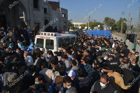 Editorial picture of Funeral of Begum Shamim Akhtar in Lahore, Punjab, Pakistan - 28 Nov 2020