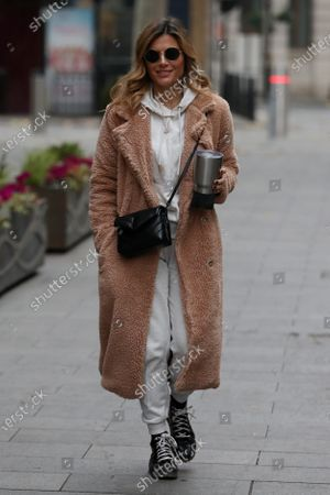 Zoe Hardman arrives at Global Radio Studios, Leicester Square.